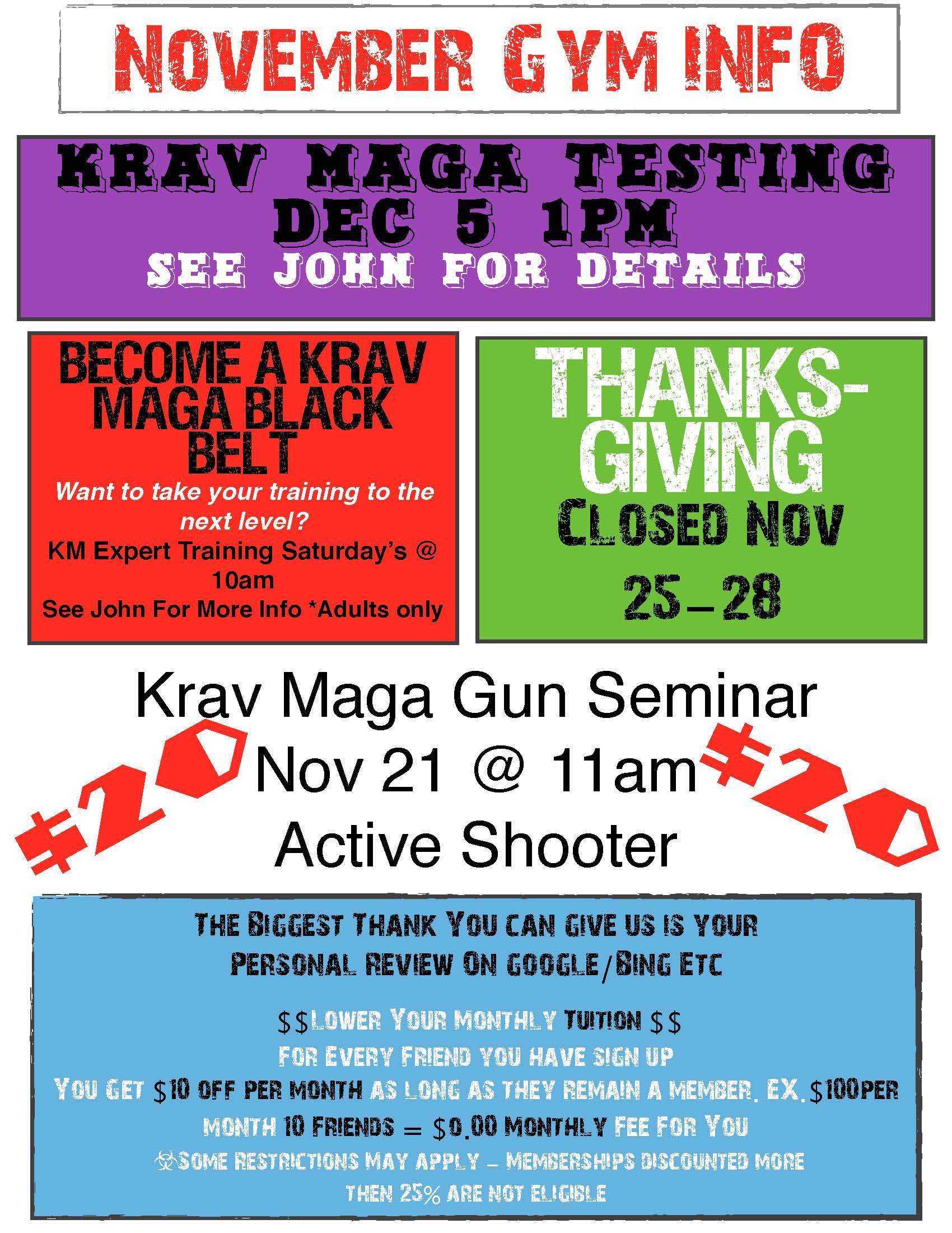 Nov Gym Events
