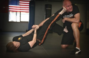 Krav Maga ground Defense Kick off from the guard